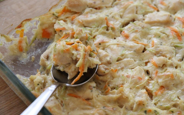 Fırında Kremalı Sebzeli Tavuk Tarifi
