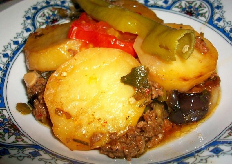 Fırında Patlıcanlı Patates Oturtma Tarifi