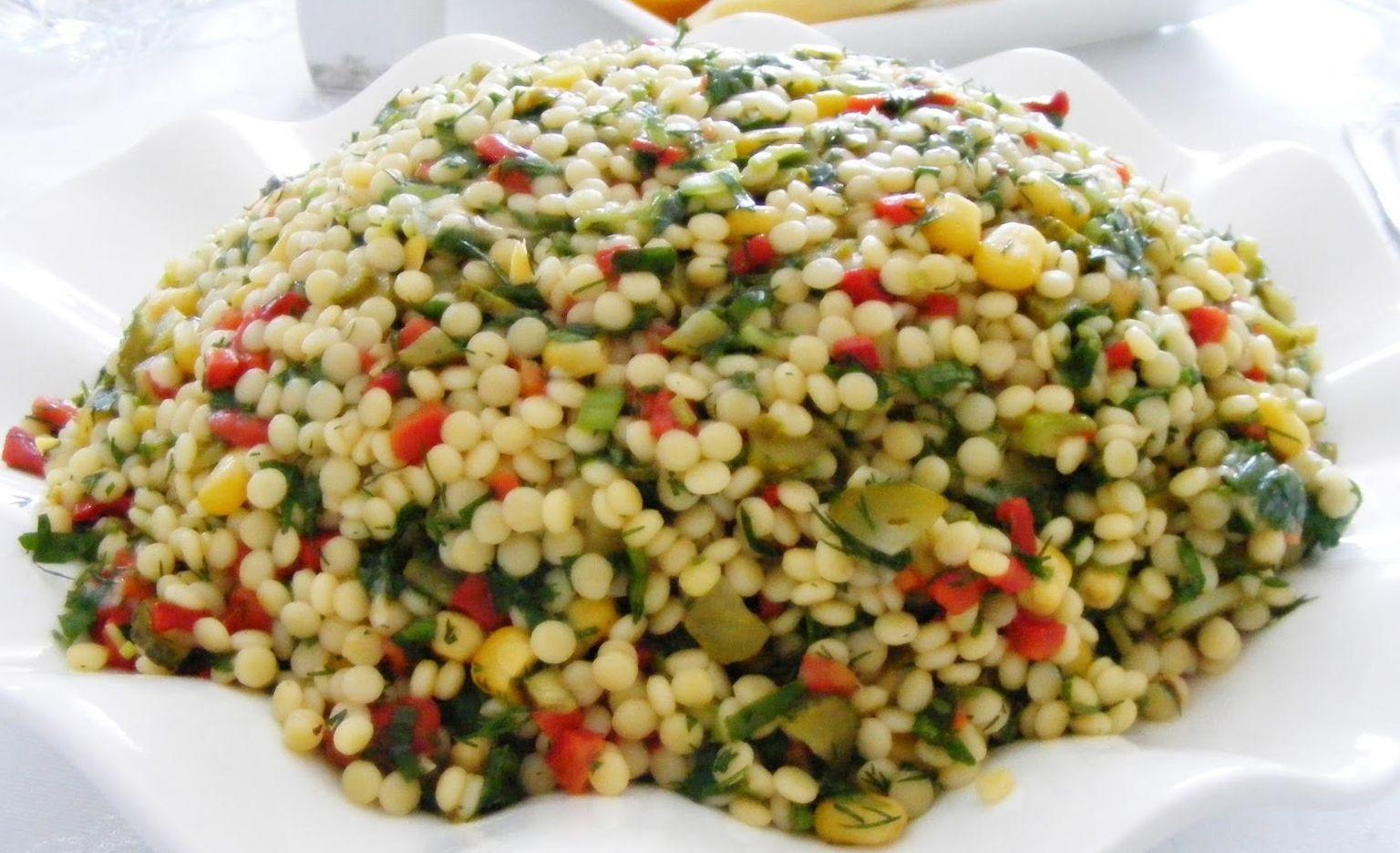 Fasulyeli Kuskus Salatası Tarifi